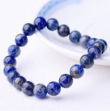 Natural 8mm Lapis Lazuli Healing Crystal Stretch Beaded Bracelet Unisex