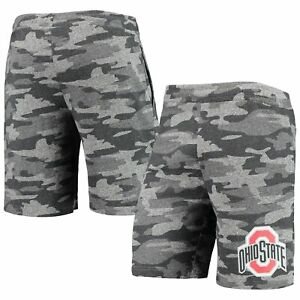 Ohio State Buckeyes Concepts Sport Camo Backup Terry Jam Lounge Shorts -