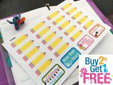 PP463 -- School Pencils Sampler Planner Stickers for Erin Condren (24pcs)