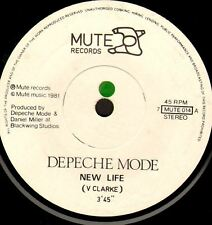 """DEPECHE MODE new life/shout (uk 1981) 7"""" WS EX/ 7MUTE014 synth pop new wave"""
