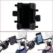 Motorcycle Bike Bicycle Handlebar Cell Phone Gps Mount Holder For Harley Black