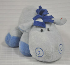 WHINNY Ty BLUE Horse PONY Baby TYLUX Soft PLUFFIES Lovey PLUSH Sewn Eyes 2008