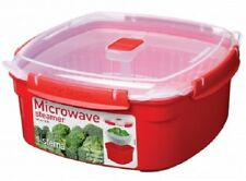Sistema 3.2L Large Square Steamer + Removable Basket Microwave Steam Vegetables