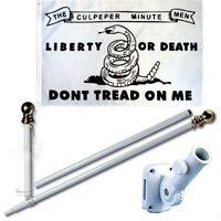 Culpeper Minute Men 3 x 5 FT Flag w/6Ft Spinning Tangle Free Flag Pole + Bracket