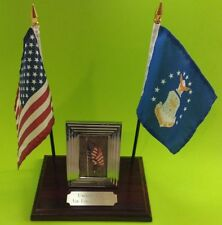 U.S. Air Force Personal Desk Combo Flag Display Plaque with Photo Made in USA