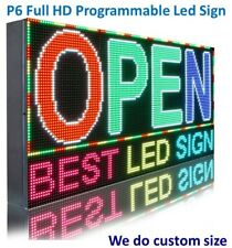 Indoor P6 Full Color 16 X 121 Pc Programmable Textlogo Business Led Sign