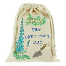 Personalised Garden bag, gardening tools sack seed bag Customise with Name