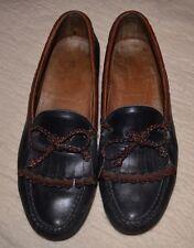 men's allen edmonds Leather Shoes Slipon Loafer Woodstock 10 1/2 Black /Mahogany
