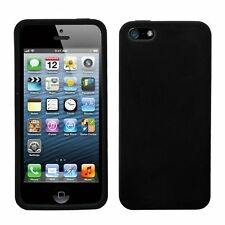 Silicone Skin Case for iPhone 5 / 5S - Black