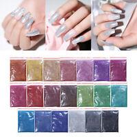 10g Holographicsss Nail Powder Glitter Laser Holo Shining Silver Nail Art Decors