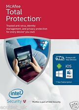 McAfee total protection 2016 unlimited utilisateur / PC Internet Security Windows 10 nouveaux