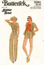 1970's VTG Butterick Misses' Shirt,Pants,Shorts Jane Tise Pattern 5991  14 UNCUT