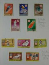 'Winter Olympic 1975' & 'Montreal Olympic1964' used mounted Stamp sets, Mongolia