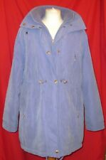 Coat Blue Size 12 Wishwood  Collared and hood and adjustable tie
