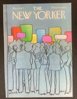 COVER ONLY ~ The New Yorker Magazine, March 14, 1977 ~ Charles Saxon
