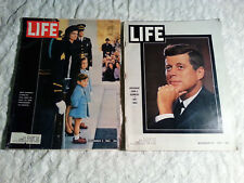 2-VINTAGE-LIFE MAGAZINES-1963-PRESIDENT KENNEDY ISSUES-NOV 29 & DEC 6 1963