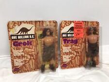 Vintage 1970's MEGO One Million B.C Trag Grok Cave Man Action Figure Lot Doll