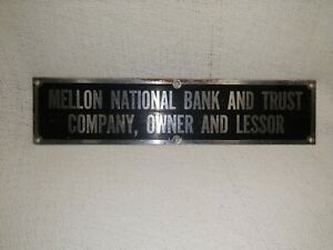 Vintage Mellon National Bank And Trust Sign