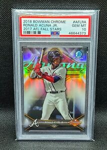 2018 Bowman Chrome RONALD ACUNA, JR. PSA 10; Braves AFL All Stars Refractor