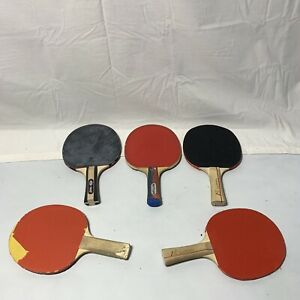 East point Ping Pong Paddles Lot of 5 Red & Black Pre-Owned