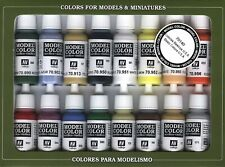 Basic USA Colors: 16 Paint Set for Model Vehicles & Soldiers (Vallejo 70140)