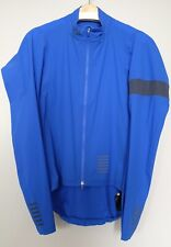 Rapha Pro Team Lightweight Shadow Rain Jacket Men LARGE Blue Road Bike Gravel