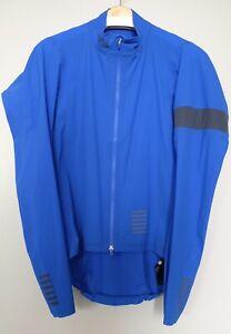 Rapha Pro Team Lightweight Shadow Rain Jacket Men LARGE Blue Road Bike Gravel