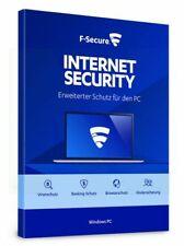 F-Secure Internet Security 2021 1 3 5 PC 1 2 3 JAHRE