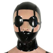 Sexy Latex Rubber Ninja Hood Masks for Unisex Catsuit Gummi 0.4mm Unique Party