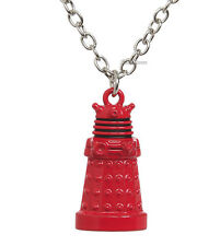 "Doctor Dr Who Red DALEK Enemy Robot Necklace 19"" Die-Cast Metal Chain Charm BBC"