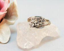 Ring 14 k 585 Weisgold 1 Br. 0,25;2 Br. 0,2 ca;zus. 1 carat 19,4 mm 61 Große