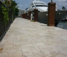 Premium French Pattern Travertine Tumbled Pavers 13mm Thick Tile First Quality