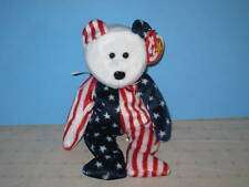 Beanie Babies Spangle the Bear White Face New with Tag