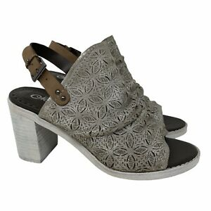 Naughty Monkey Women Nyxx Ankle Bootie Shoes Silver Leather Open Toe Slingback 7