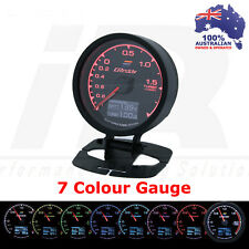 Greddy Multi D/A Boost Gauge BAR Digital Analog 7 Colour + VOLTS Universal Fit