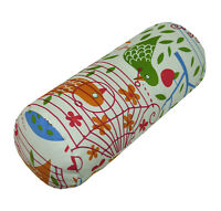 LF816g White Yellow Red Black Cotton Canvas Neck Yoga Bolster Case Pillow Cover