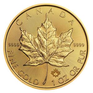Goldmünze 1 oz Maple Leaf Kanada 2021 prägefrisch