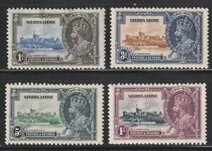 Sierra Leone  1935   Sc # 166-69   Silver Jubilee   MLH  (4037-7)