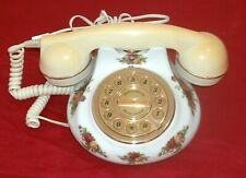 VINTAGE ROYAL ALBERT OLD COUNTRY ROSE TELEPHONE IN FAIRLY GOOD WORKING CONDITION