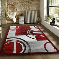 Modern burgundy gray Area rug Newprt #52 soft pile size option 2x3 3x5 5x7 8x11