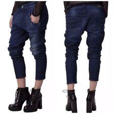 NWT Diesel Women's Fayza R842R Relaxed-Boyfriend Drop Crotch Stretch Jeans 30