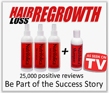 NUTRIFOLICA+TREATMENT SHAMPOO REGROW HAIR 60 DAYS loss no Minoxidil side effects
