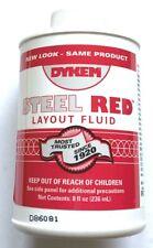 Dykem Steel Red Layoutstaining Fluid 8oz Brush In Cap 80496