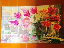Wall Tapestry  Hanging Art Quality Holland Tulips Dutch Vintage