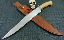 Custom Mozolic Knives Fighter Bowie Huge 17 Inches !! Acacia Burl Hand Forged W2