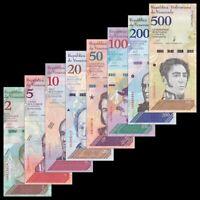 Venezuela Set 8 PCS, 2+5+10+20+50+100+200+500 Bolivares Soberanos, 2018, UNC