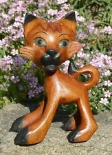 Kleine Katze Holz Tier Cat Figur Kinder Spielzeug KTier49