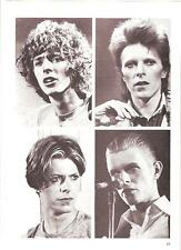 DAVID BOWIE 4 faces of David magazine PHOTO/ Poster/clipping 11x8 inches