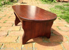 "8.5"" h x 21"" wide, Handcrafted Bedside OVAL Step Stool Wood, Heavy Duty Bed Step"