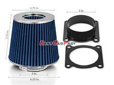 Air Intake Air Flow Sensor MAF Adapter + BLUE Filter Fit For Nissan/Infinity